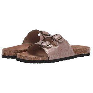 Northside Sandals Mariana Mink Buckle Slides